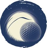La bille de golf isolée Photo libre de droits