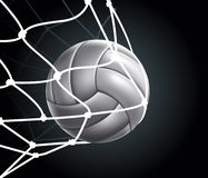 La bille de volleyball a placé 3 Images stock
