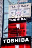 La bille en cristal à la construction de Times Square Photos stock