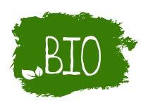 La bio- etichetta dell'alimento biologico e prodotto di qualità sani badges Eco, 100 bio- ed icona del prodotto naturale Emblemi  illustrazione vettoriale