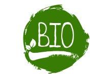 La bio- etichetta dell'alimento biologico e prodotto di qualità sani badges Eco, 100 bio- ed icona del prodotto naturale Emblemi  royalty illustrazione gratis