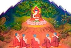 La biografía de Buda: El practicar severly Imagen de archivo libre de regalías