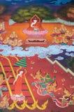 La biografía de Buda: Predicación en cielo Foto de archivo libre de regalías