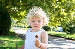 la bionda del bambino della bambina grida amaramente Fotografia Stock