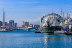 La biosfera della bolla da Renzo Piano a Genova, Italia fotografie stock