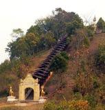 La Birmania. Entrata del tempiale Fotografie Stock Libere da Diritti