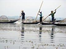 La Birmania - pesca Fotografie Stock Libere da Diritti