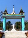 La Birmania. Tempiale di Kyaukme Immagini Stock