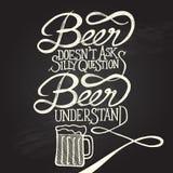 La birra capisce 3 - frase Immagine Stock