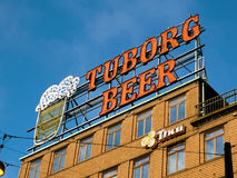 La birra firma dentro Copenhaghen Fotografie Stock