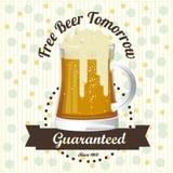 La birra libera l'etichetta royalty illustrazione gratis