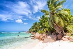 La Blague d'Anse Praslin - en Seychelles Photo libre de droits