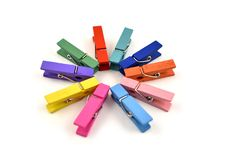 La blanchisserie colorée goupille les images courantes photo libre de droits