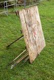 La blanco para el tiro de jabalina Imagen de archivo