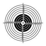 La blanco para la práctica del shooting Imagenes de archivo
