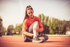 La blessure est souvent dans le sport photos stock