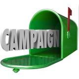 La boîte aux lettres de la campagne 3d Word fournissent le message direct faisant de la publicité Poli Image libre de droits