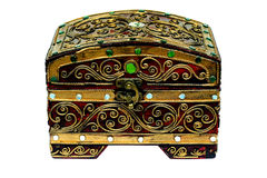 La boîte décorent de l'isolat de bijoux Photos libres de droits