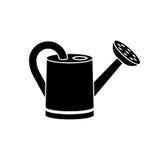 La boîte d'arrosage, noircissent l'icône de silhouette illustration libre de droits