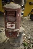 La boîte indienne de courrier dans Chennai, Inde photo libre de droits
