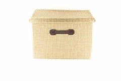 La boîte vêtx la boîte beige vide Image libre de droits
