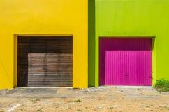 La BO Kaap, Cape Town 016-Garages Fotografia Stock Libera da Diritti