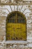 La BO Kaap, Cape Town, vecchia finestra Fotografia Stock Libera da Diritti