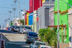 La BO Kaap, rue de Cape Town Images libres de droits