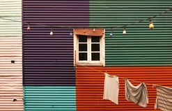 La boca Argentina. Boca Argentina Colorful Paint Window Royalty Free Stock Photo