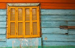 La boca Argentina. Boca Argentina Colorful Paint Window Stock Photography