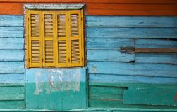 La boca Argentina. Boca Argentina Colorful Paint Window Stock Photos