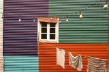 La boca Argentina. Boca Argentina Colorful Paint Window Stock Image
