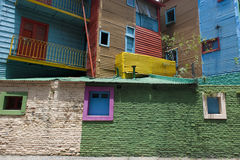 La Boca Buenos Aires. Colorful windows and walls in Caminto - La Boca, Buenos Aires Stock Photo