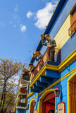 La Boca in Buenos Aires, Argentina. Argentina, Buenos Aires Province, City of Buenos Aires, View of the colourful La Boca Neighbourhood Stock Photography