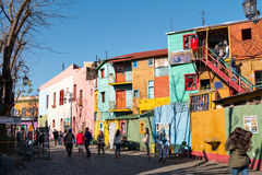 La Boca, Buenos aires Argentinië Stock Foto's