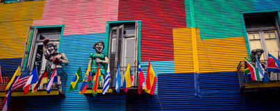 La boca buenos aires. La Boca is a barrio of the Argentine capital, Buenos Aires stock photos