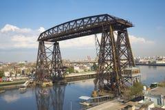 La Boca Buenos Aires del puente del transportador imágenes de archivo libres de regalías
