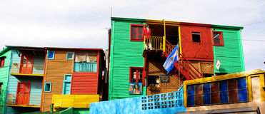 La Boca. Caminito. View of the popular neighbourhood Caminito in La Boca (Buenos Aires - Argentina Royalty Free Stock Photo