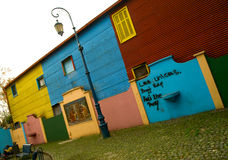 La boca - Caminito. Corrugated homes in La Boca - Buenos Aires Stock Photos