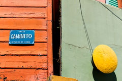 La Boca Caminito, colorful neighborhood, Buenos Aires Argentine Royalty Free Stock Photography