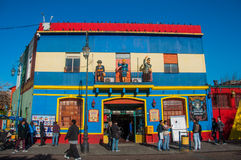 La Boca colorful houses neighborhood, Buenos Aires, Argentina.  royalty free stock photography