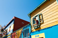 La Boca, colorful neighborhood, Buenos Aires Argentine Royalty Free Stock Photography