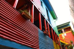 La Boca Conventillo. Old conventillo in the neighborhood of the mouth, buenos aires Stock Photography