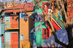 La Boca. District of Buenos Aires in Argentina with colorful houses, Italian taverns and tango clubs Stock Photography