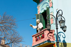 La Boca, färgrik grannskap, Buenos Aires argentinare Royaltyfria Bilder