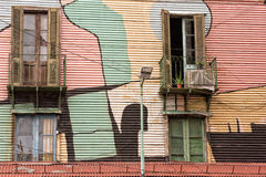 La boca painted house in Buenos Aires Royalty Free Stock Photo