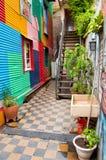 La Boca, rues célèbres de Buenos Aires dans la La quarte Boca Images stock