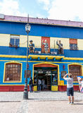La Boca Street with Tourists Royalty Free Stock Photos