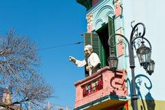 La Boca, vecindad colorida, Buenos Aires Argentina Imágenes de archivo libres de regalías