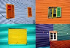 La Boca walls Collection. A collection of the colourful walls in La Boca, Buenos Aires, Argentina Stock Photos